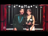 Full video of Darren Criss and Alison Brie presenting the award for best country song on the @BBMAs.