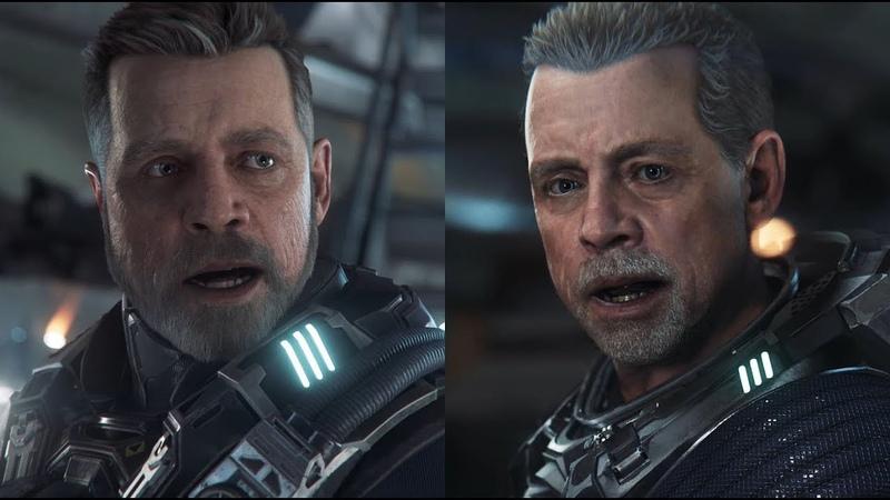 Star Citizen Squadron 42 Mark Hamill Character Model Comparison 2017 vs 2018