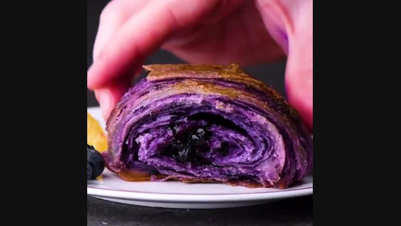 Потрясающие черничные круассаны | Больше рецептов в группе Десертомания