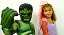 Мультик про принцесс. Ведьмочка и Халк. Игры для детей