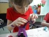 Попова Лиза, 6 лет. Фиолетовый жираф.