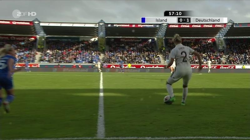 Frauenfussball WM 2019 Qualifikation Island Deutschland 2 Halbzeit