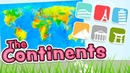 The Continents in English 6 continents model