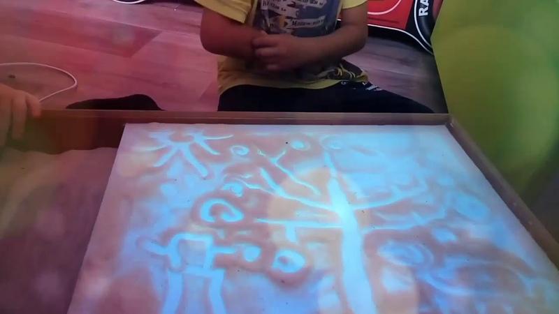 Детская пескография. Светодиодная лента GBKOF