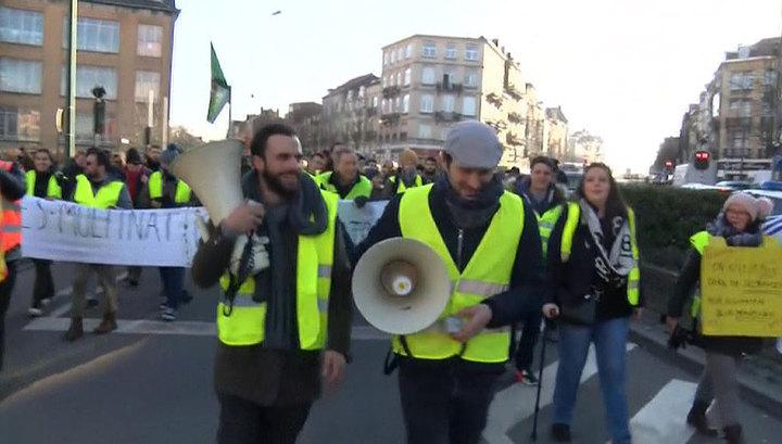 Вести.Ru: Желтые жилеты в Бельгии атаковали группу журналистов