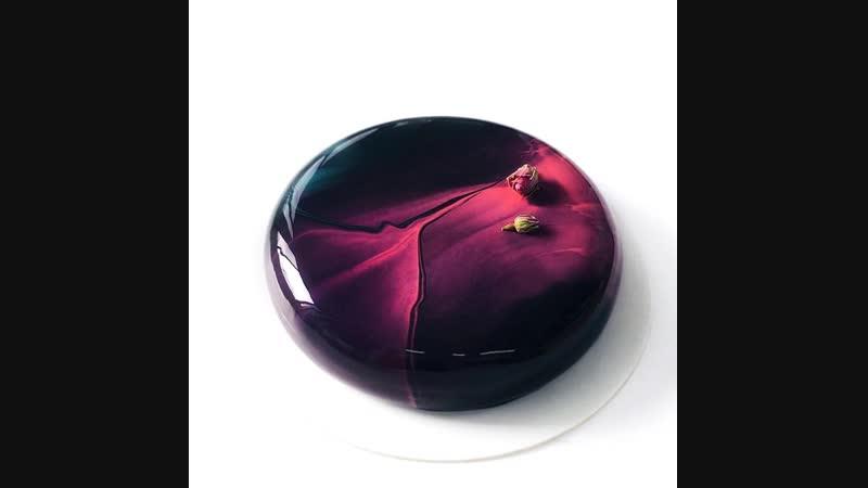 Техника рисунка на зеркальной глазури от Ксении Пенкиной