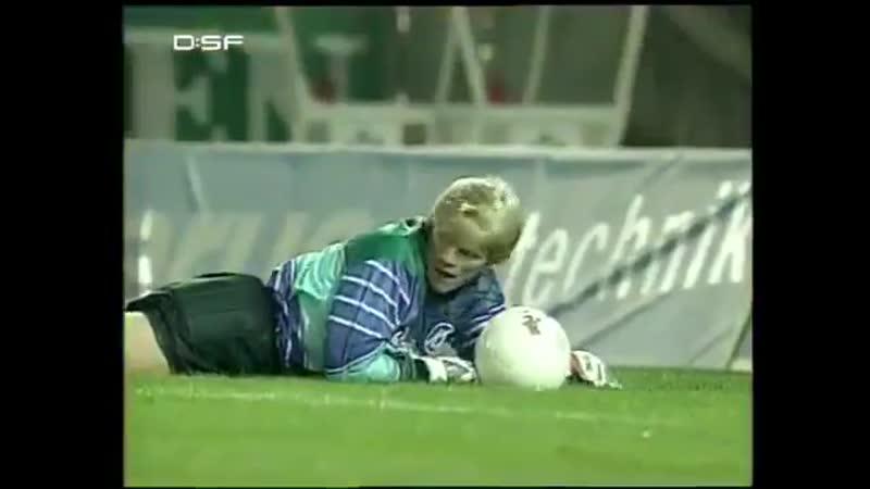 Джей-Джей Окоча (Айнтрахт, Франкфурт) - крутейший мяч в ворота Оливера Кана, 1993 год