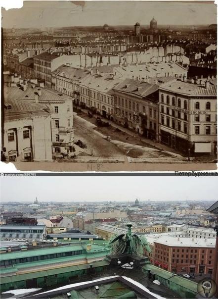 Самая первая панорама Петербурга и фотографии 160 лет спустя