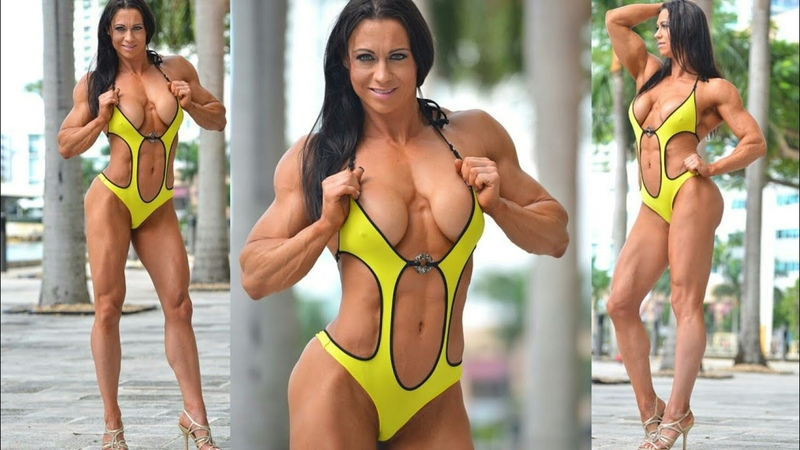 Muscle Woman 60 Crystal Cooper Female bodybuilder! Fitness model! Sport girl!Strong woman! IFBB FBB