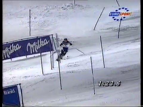 Alberto Tomba wins slalom (Schladming 1997)