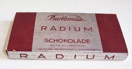 Омолаживающий радиоактивный шоколад.