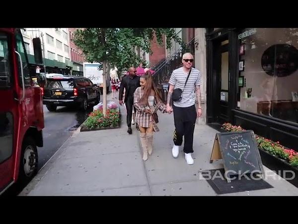 Ariana Grande and a blonde Pete Davidson run errands together in New York