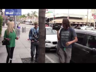 Tara Reid and Jedward in Beverly Hills St. Patricks Day