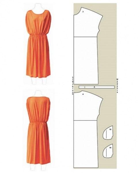 Выкройки реглан летних платьев