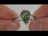 Exotic Beauty Brazilian Green Tourmaline &amp Diamond Ring From a $300,000 Collection Must Be Sold