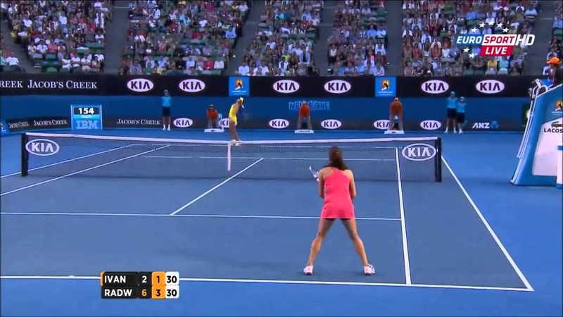 Ana Ivanovic vs Agnieszka Radwańska Australian Open 2013