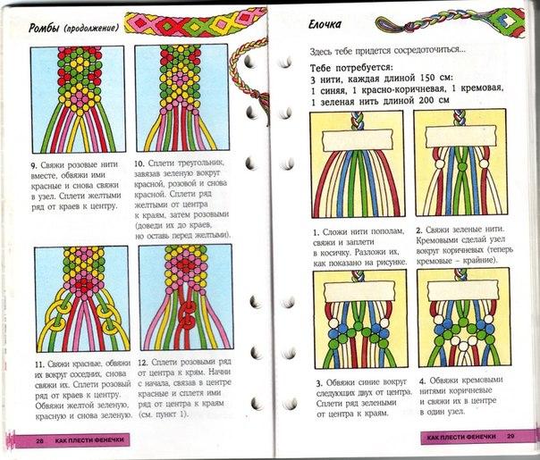 Техника плетения фенечек из