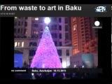Euronews посвятил рубрику No comment проекту IDEA: Елка из пластиковых бутылок в Баку