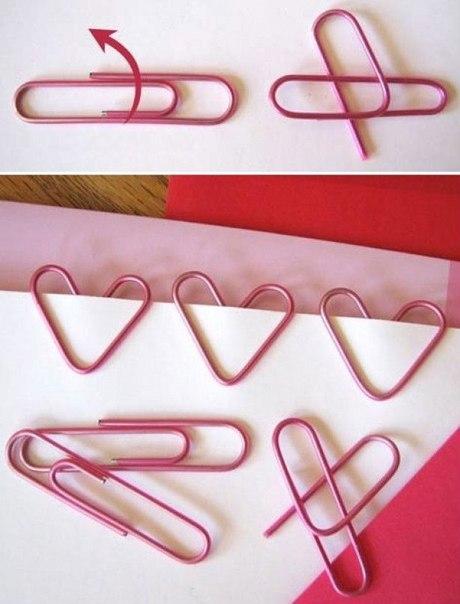 Как превратить обычную скрепку в романтическую ♥