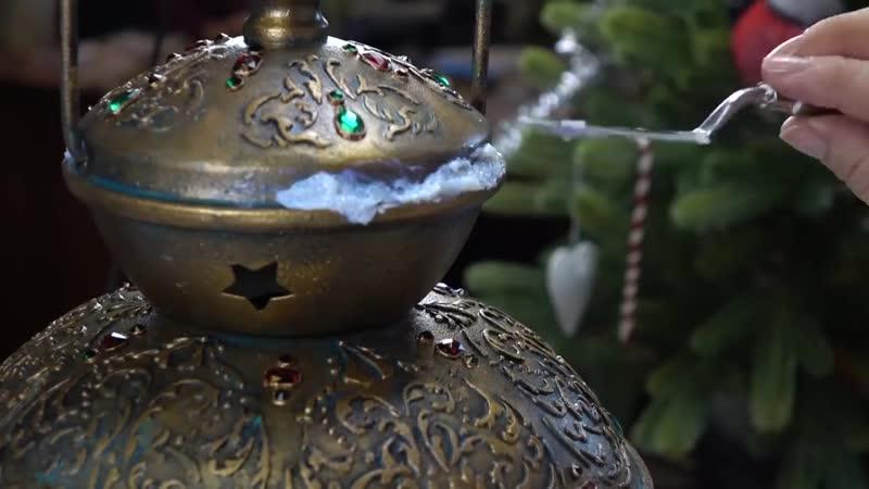 🎄Волшебный восточный фонарь Рельефные узоры и имитация старинной бронзы МК Удовиной Наташи
