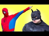 Spiderman &amp Batman vs Zombie. Superheroes in real life. Tasty cookies and cola. Episode 2