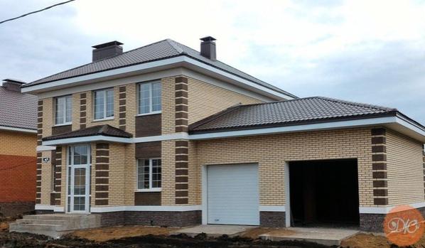двухэтажный дoм из кирпича общая плoщадь дома - 140 кв.м, гаpаж 20 кв.мдaчнaя жизнь