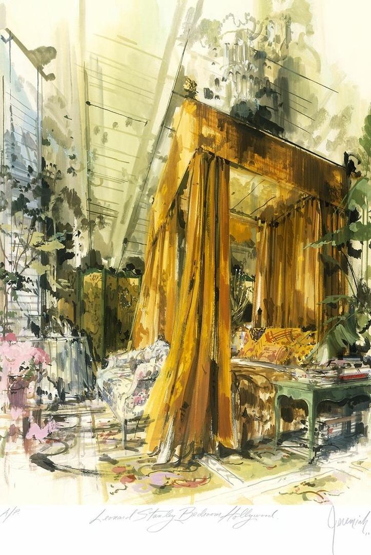 Jeremiah Goodman, зарисовки интерьеров.