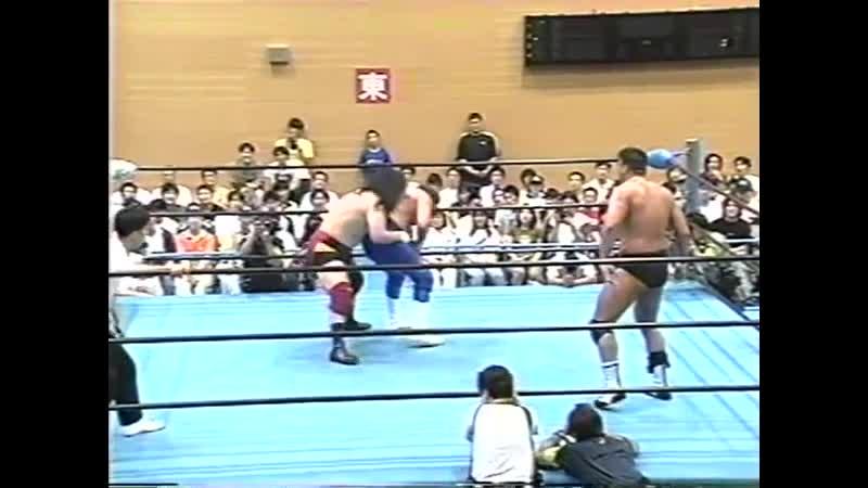 1998.05.31 - Johnny SmithWolf Hawkfield [c] vs. Takao OmoriTamon Honda [JIP]