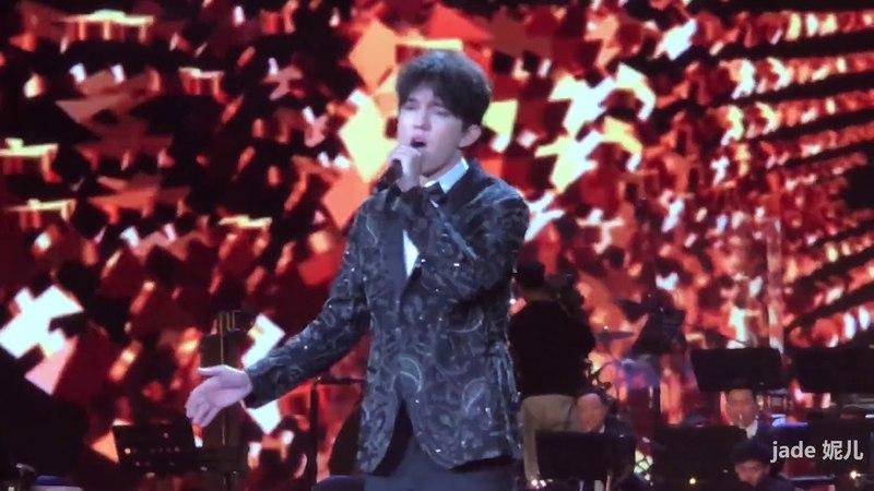 【fancam】Dimash Kudaibergen Димаш Құдайберген 迪玛希 20180410 CCTV 一带一路主题音乐会 daididau 录制