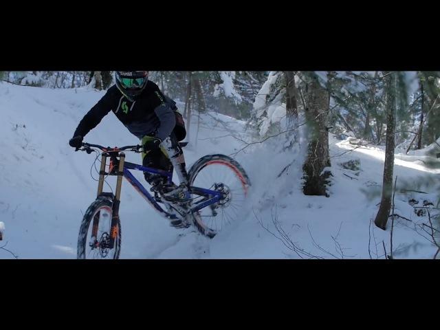 Downhill Mountain Biking on Snow!