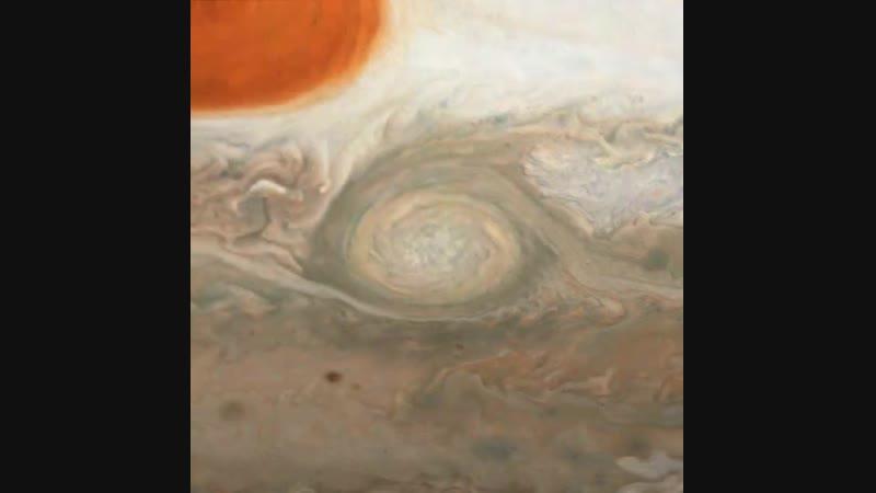 Jupiter - Oval BA animation @NASAJuno Perijove 17