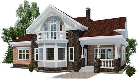 Дом может быть построен из пеноблоков