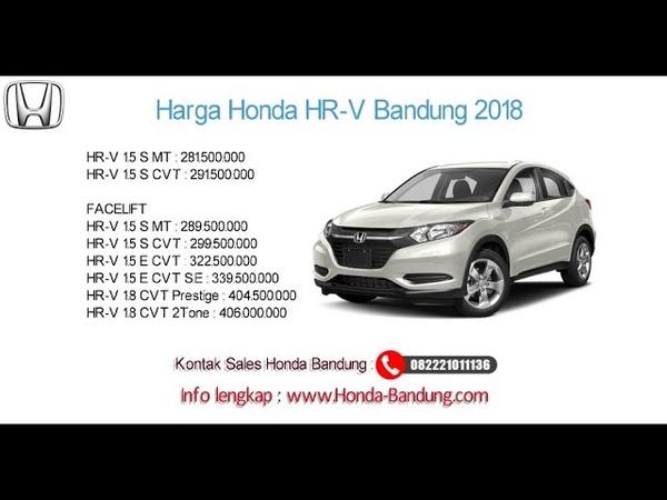 Harga Honda HR V 2018 Bandung dan Jawa Barat Info 082221011136