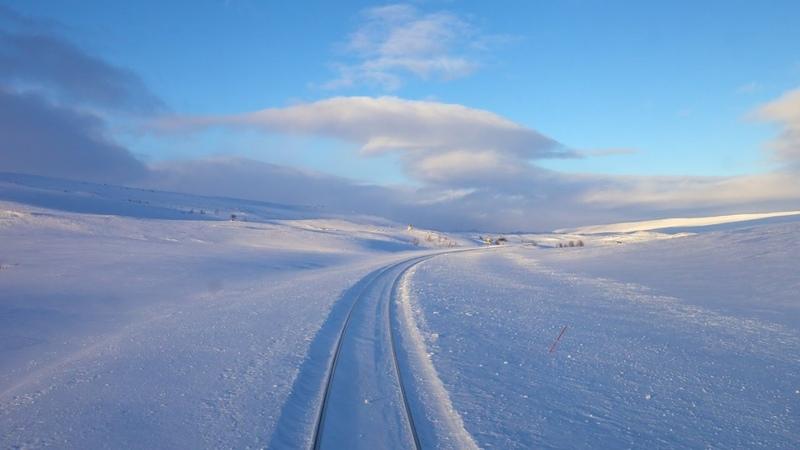 Любителям живописной дороги на поезде. Зима. Норвегия.