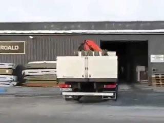 Scania Drift Truck Drifting 2014 Into Garage