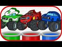 Blaze and the Monster Machines Wooden Сars Learn colors