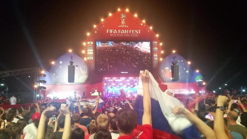 FIFA Fan Fest Ростова-на-Дону МНОГО ФЛАГОВ хочет попасть на Матч-ТВ xD чм2018 ростов worldcup fifafanfest fifa 2018.07.07