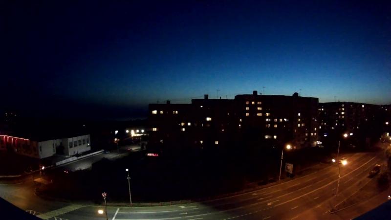 Рассвет и закат в Усть-Илимске