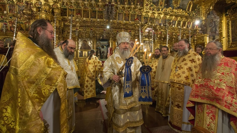 Божественная литургия в Киккском монастыре и посещение Горы Трони. 3.11.18 г.