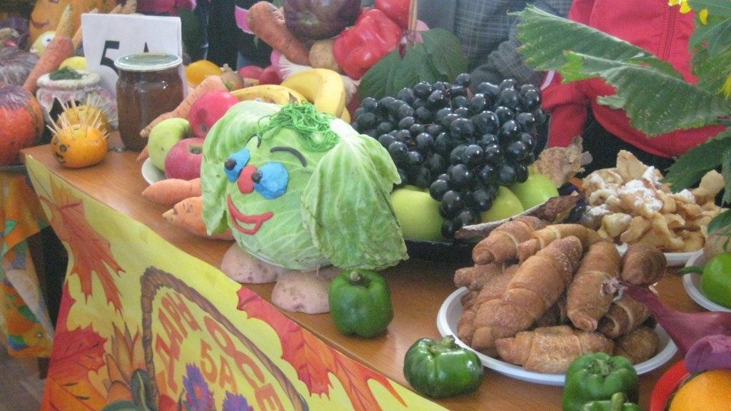 Поделка из овощей для школьной ярмарки