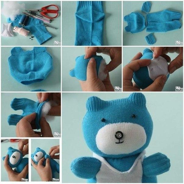 Как сшить игрушки своими руками из носков