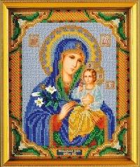 """Богородица Неувядаемый Цвет загружено в ИКОНЫ ВЫШИТЫЕ БИСЕРОМ: Набор для изготовления иконы из бисера  """"Богородица..."""