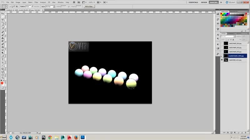 10 Использование MultiMatte рендер элементов в Photoshop для изменения текстур на постобработке