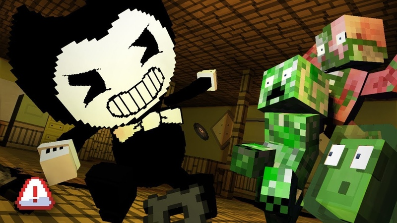 Monster School BENDY AND THE INK MACHINE - Minecraft Animation
