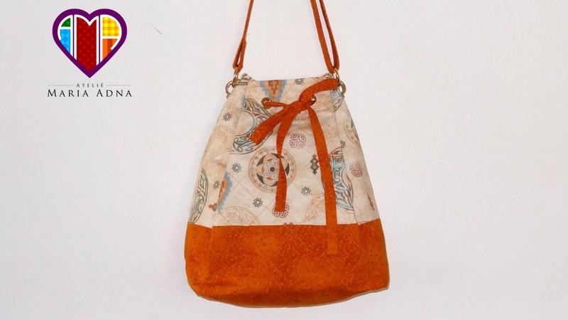 Bolsa sacola de tecido Melissa. DIY. Fabric bag. Make a fabric bag. Fabric bag tutorial. Fabric bags