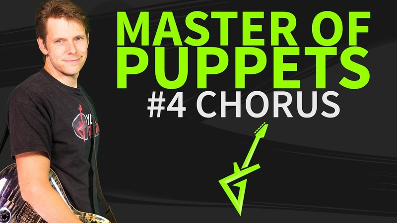 How To Play Master of Puppets Guitar Lesson 4 Chorus