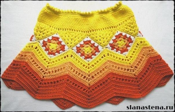 Летняя юбочка для девочки (5 фото) - картинка