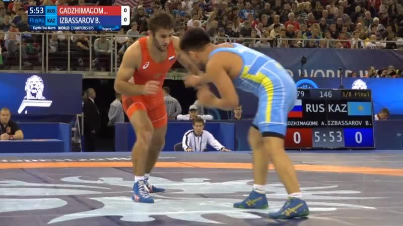 1\8 final: Akhmed Shiabdinovitch GADZHIMAGOMEDOV (RUS) vs. Bakhtiyar IZBASSAROV (KAZ)