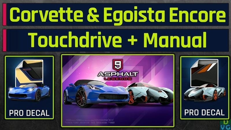 Asphalt 9 - Corvette Egoista Encore Events | Touchdrive Manual Guide ( PRO Decals )