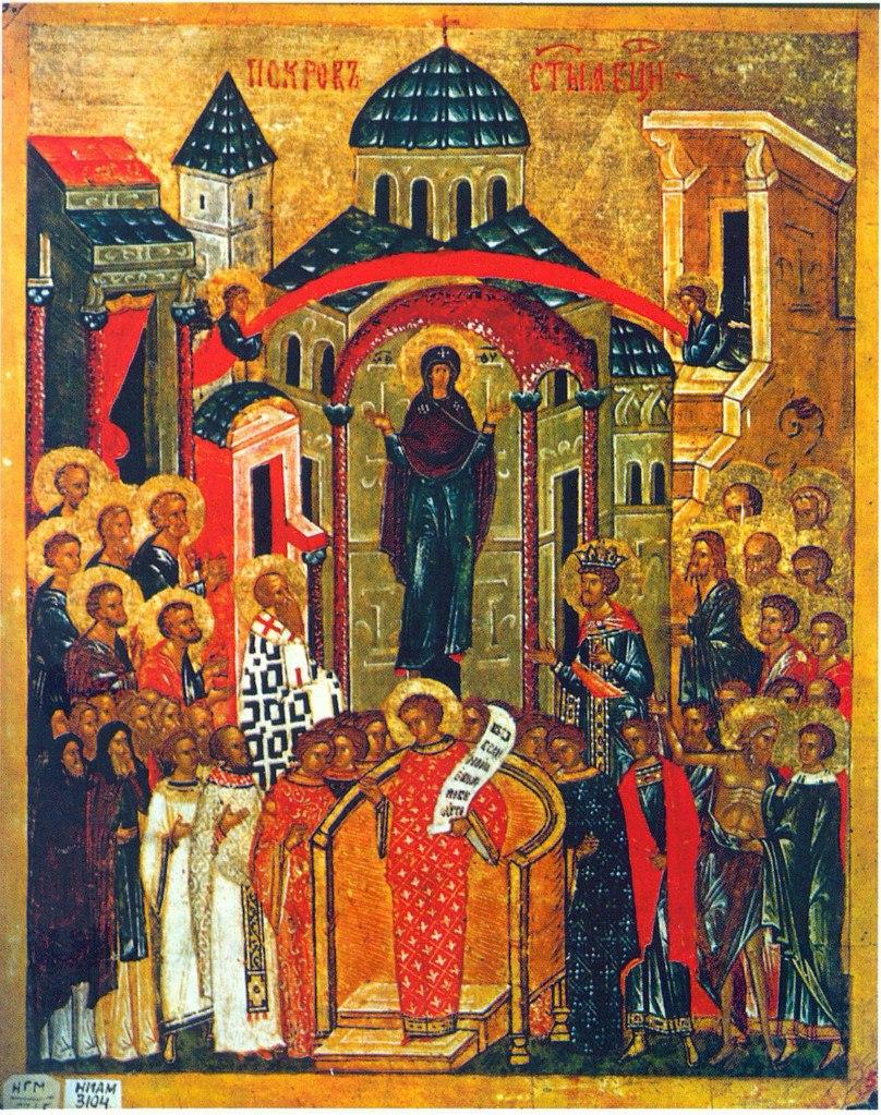 Покров пресвятой богородицы икона 15 век новгород